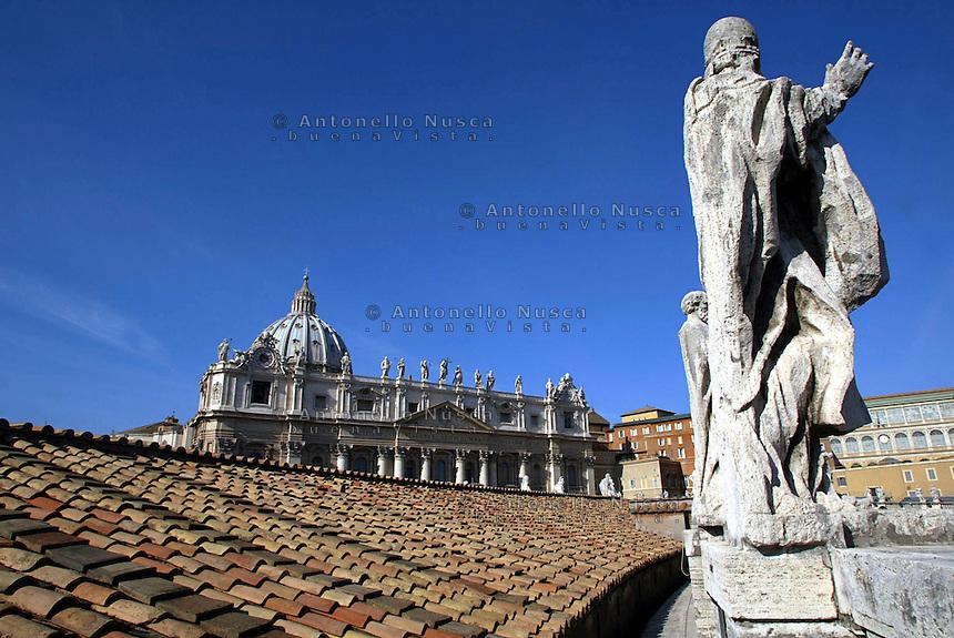 The Saint Peter Basilica.<br /> Una veduta della Basilica di San Pietro