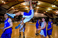 Action from the 2019 Schick AA Boys' Secondary Schools Basketball National Championship final between St Kentigern and Rosmini College at the Central Energy Trust Arena in Palmerston North, New Zealand on Saturday, 5 October 2019. Photo: Dave Lintott / lintottphoto.co.nz
