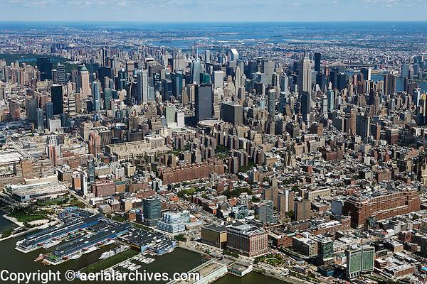 aerial photograph midtown Manhattan skyline, New York City