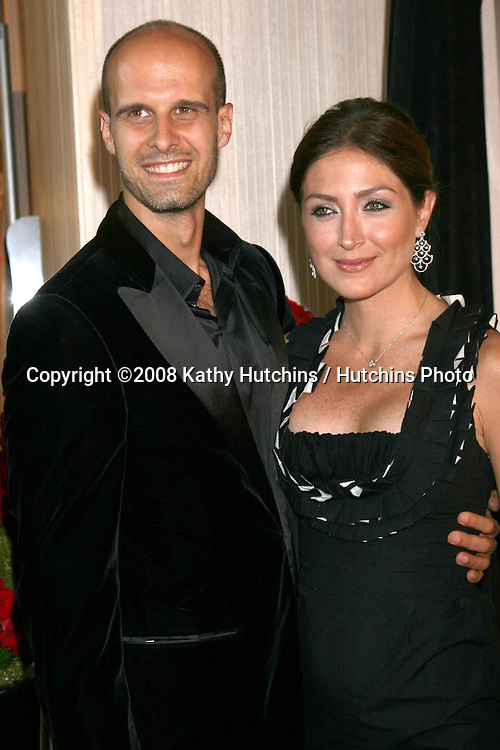 Edoardo Ponti & Sasha Alexander arriving at the 2008 Crystal & Lucy Awards at the Beverly Hilton Hotel in Beverly Hills, CA.June 17, 2008.©2008 Kathy Hutchins / Hutchins Photo .