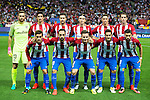 Atletico de Madrid's players during match of UEFA Champions League at Vicente Calderon Stadium in Madrid. September 28, Spain. 2016. (ALTERPHOTOS/BorjaB.Hojas)