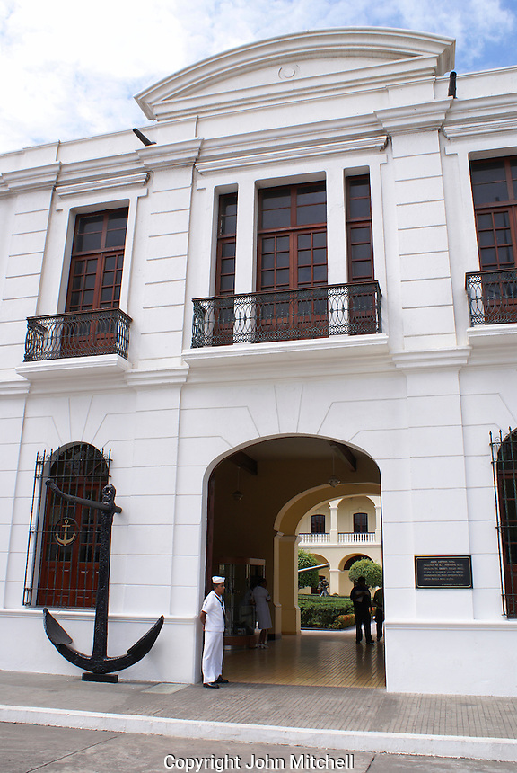 Entrance to the the Museo Historico Naval or Naval History Museum, city of Veracruz, Mexico