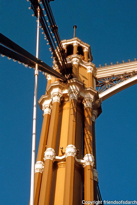 London: Albert Bridge--detail.