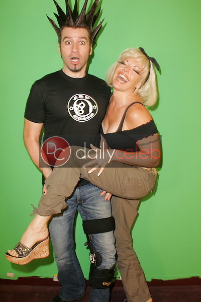"""Phil X and Ninette Terhart of Powder<br />on the set of """"Twin's TV"""". Private Location. Sherman Oaks, CA. 09-15-05<br />Dave Edwards/DailyCeleb.com 818-249-4998"""
