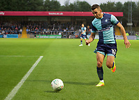 Matt Bloomfield of Wycombe Wanderers during the Carabao Cup match between Wycombe Wanderers and Fulham at Adams Park, High Wycombe, England on 8 August 2017. Photo by Alan  Stanford / PRiME Media Images.