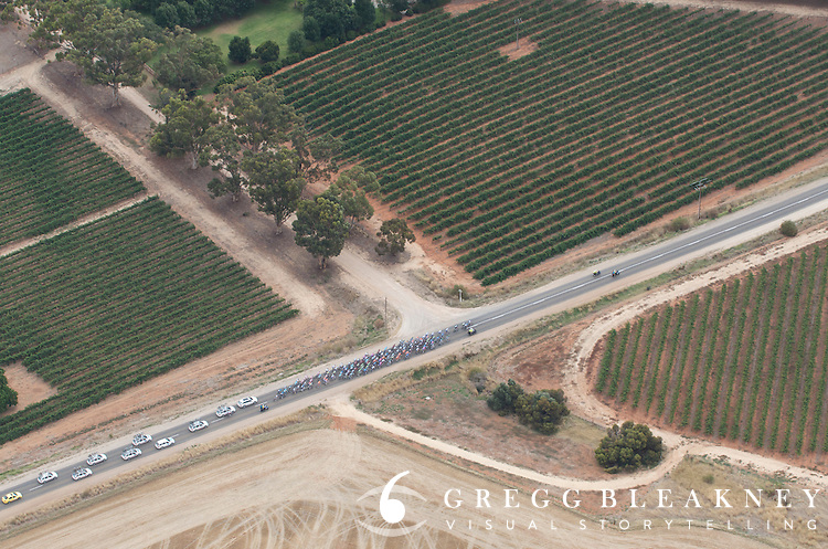 Clare Valley Vineyards - 2012 Santos Tour Down Under - Stage 1 Helicopter Aerials - Adelaide