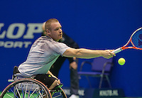 Rotterdam, Netherlands, December 20, 2015,  Topsport Centrum, Lotto NK Tennis, Final mens wheelchair Maikel Scheffers (NED)<br /> Photo: Tennisimages/Henk Koster