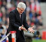 Stoke City Manager Mark Hughes<br /> - Barclays Premier League - Stoke City vs Manchester United - Britannia Stadium - Stoke on Trent - England - 26th December 2015 - Pic Robin Parker/Sportimage