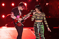 CARSON, CALIFORNIA - JUNE 01: Halsey and YoungBlood perform onstage at 2019 iHeartRadio Wango Tango at Dignity Health Sports Park on June 01, 2019 in Carson, California.   <br /> CAP/MPI/IS<br /> ©IS/MPI/Capital Pictures