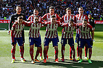 Atletico de Madrid´s initial players before 2015/16 La Liga match between Real Madrid and Atletico de Madrid at Santiago Bernabeu stadium in Madrid, Spain. February 27, 2016. (ALTERPHOTOS/Victor Blanco)