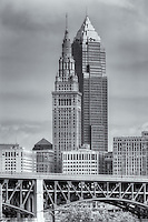 The Terminal Tower and Key Tower dominate the skyline of Cleveland, Ohio.  The Terminal Tower was the 4th tallest building in the world when built in 1930 and remained the tallest in Cleveland until the completion of the Key Tower (then Society Tower) in 1991.