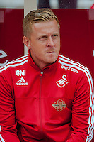 NOTTINGHAM, ENGLAND - JULY 25:  Manager of Swansea City, Garry Monk prior to the pre season friendly match between Nottingham Forest and Swansea City at The City Ground on July 25, 2015 in Nottingham, England.  (Photo by Aled Llywelyn / Athena Pictures )