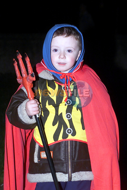 Nathan Murphy all dressed up for Holloween.Picture Fran Caffrey Newsfile...This Picture is sent to you by:..Newsfile Ltd.The View, Millmount Abbey, Drogheda, Co Louth, Ireland..Tel: +353419871240.Fax: +353419871260.GSM: +353862500958.ISDN: +353419871010.email: pictures@newsfile.ie.www.newsfile.ie
