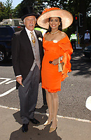 Bruce Forsyth and wife, Wilnelia dies at 89 retro set - <br /> The opening day of Royal Ascot 2004 horse racing meeting, Ascot, England