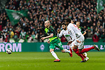 10.02.2019, Weserstadion, Bremen, GER, 1.FBL, Werder Bremen vs FC Augsburg<br /> <br /> DFL REGULATIONS PROHIBIT ANY USE OF PHOTOGRAPHS AS IMAGE SEQUENCES AND/OR QUASI-VIDEO.<br /> <br /> im Bild / picture shows<br /> Davy Klaassen (Werder Bremen #30), Jan Moravek (FC Augsburg #14), Reece Oxford (FC Augsburg #05), <br /> <br /> Foto &copy; nordphoto / Ewert