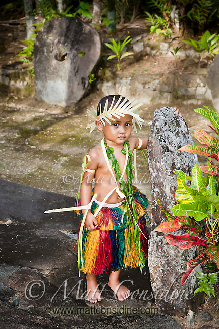 Young Child in Traditional Dress, Yap Micronesia (Photo by Matt Considine - Images of Asia Collection)