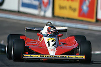 WATKINS GLEN, NY - OCTOBER 1: Gilles Villeneuve drives his Ferrari 312T3 034/Ferrari 015 in the United States Grand Prix East on October 1, 1978, at the Watkins Glen Grand Prix Race Course near Watkins Glen, New York.