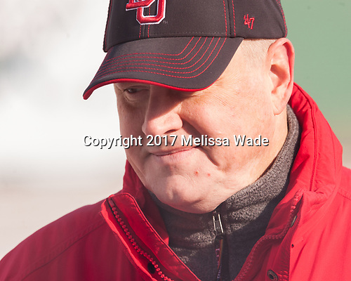 Larry Venis (BU - Assistant Director-Athletic Training Services) - The Boston University Terriers practiced on the rink at Fenway Park on Friday, January 6, 2017.The Boston University Terriers practiced on the rink at Fenway Park on Friday, January 6, 2017.