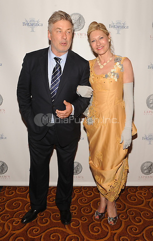 New York,NY-JUNE 02: Alec Baldwin, Lori Eustis attends Lapham's Quarterly Decades Ball: The 1870s at Gotham Hall In New York City on June 2, 2014. Credit: John Palmer/MediaPunch