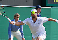England, London, Juli 04, 2015, Tennis, Wimbledon, Pablo Andujar (ESP) in action against Berdych<br /> Photo: Tennisimages/Henk Koster