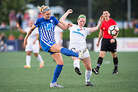 Boston, MA - Friday August 04, 2017: Megan Oyster, Maegan Kelly during a regular season National Women's Soccer League (NWSL) match between the Boston Breakers and FC Kansas City at Jordan Field.