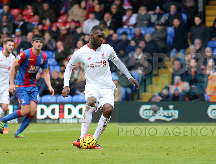 Liverpool's Christian Benteke scoring his sides second goal<br /> <br /> - English Premier League - Crystal Palace vs Liverpool  - Selhurst Park - London - England - 6th March 2016 - Pic David Klein/Sportimage