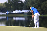 Brooks Koepka (USA) putts on the 14th green during Thursday's Round 1 of the 2017 PGA Championship held at Quail Hollow Golf Club, Charlotte, North Carolina, USA. 10th August 2017.<br /> Picture: Eoin Clarke | Golffile<br /> <br /> <br /> All photos usage must carry mandatory copyright credit (&copy; Golffile | Eoin Clarke)