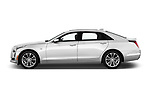 Car Driver side profile view of a 2019 Cadillac CT6 Luxury 4 Door Sedan Side View
