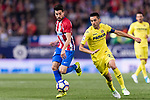 Nicolas Gaitan of Atletico de Madrid (L) fights for the ball with Bruno Soriano Llido of Villarreal CF (R) during the La Liga match between Atletico de Madrid vs Villarreal CF at the Estadio Vicente Calderon on 25 April 2017 in Madrid, Spain. Photo by Diego Gonzalez Souto / Power Sport Images