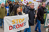 Drone Demo 27th April 2013 RAF Waddington Lincoln First day of remote operations from UK mainland