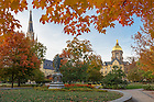 Oct. 21, 2015; Main Quad fall scenic. (Photo by Matt Cashore/University of Notre Dame)