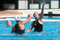 Stanford, CA - April 28, 2019: Kat Klass during the Stanford vs USC MPSF Women's Water Polo Championship Sunday at the Avery Aquatic Center.<br /> <br /> No. 1 Stanford lost the MPSF Championship in sudden death to the No. 2 Trojans, 9-8.