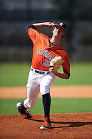 GCL Astros pitcher Forrest Whitley (63) delivers a warmup pitch during the first game of a doubleheader against the GCL Mets on August 5, 2016 at Osceola County Stadium Complex in Kissimmee, Florida.  GCL Astros defeated the GCL Mets 4-1 in the continuation of a game started on July 21st and postponed due to inclement weather.  (Mike Janes/Four Seam Images)