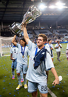Michael Thomas. Sporting Kansas City won the Lamar Hunt U.S. Open Cup on penalty kicks after tying the Seattle Sounders in overtime at Livestrong Sporting Park in Kansas City, Kansas.