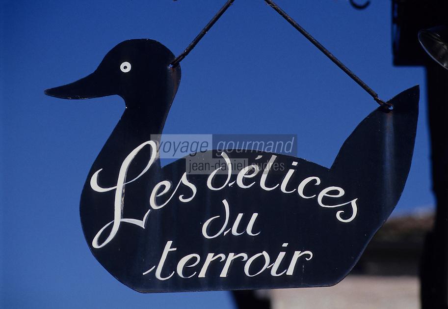 Europe/France/Midi-Pyrénées/81/Tarn/Cordes: Enseigne en forme de canard