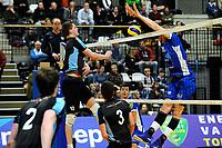 GRONINGEN - Volleybal, Lycurgus - TT Papendal, Alfa College, Eredivisie,  seizoen 2018-2019, 31-01-2019,  blok Lycurgus speler Dennis Borst