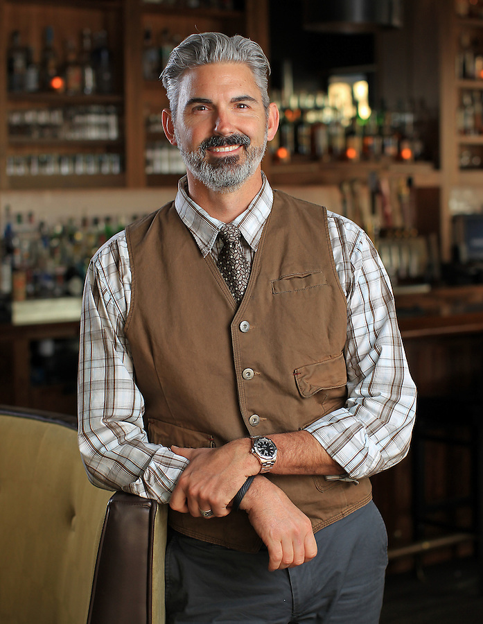 The Virginia National Bank portrait shoot with Commonwealth Restaurant owner Richard Averitt February 2, 2015 at the restaurant in Charlottesville, VA. Photo/Andrew Shurtleff