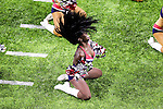 New England Patriots cheerleaders in action during Super Bowl LI at the NRG Stadium in Houston, Texas.