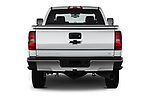 Straight rear view of 2019 Chevrolet Silverado-2500 LT 4 Door Pick-up Rear View  stock images