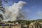August 19, 2001 Coulterville, California  -- Creek Fire –  Fire blows up on Alan Haigh ranch. The Creek Fire burned 11,500 acres between Highway 49 and Priest-Coulterville Road a few miles north of Coulterville, California.
