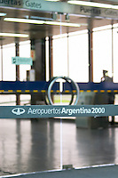 A glass door at the Buenos Aires Airport Buenos Aires Argentina, South America