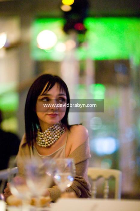 Maria de Medeiros, diner, 20 ans de la Fondation Groupama-Gan pour le Cinema, Cannes, France, 18 mai 2007.
