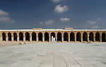 The courtyard of the  Great Mosque in Kairouan, Tunisia.