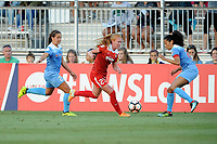 Boyds, MD -Saturday August 26, 2017: Danielle Colaprico, Tori Huster, Christen Press during a regular season National Women's Soccer League (NWSL) match between the Washington Spirit and the Chicago Red Stars at Maureen Hendricks Field, Maryland SoccerPlex.