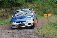 Barry Groundwater / Neil Shanks at Junction 12 on Special Stage 2 Windy Hill of the 2012 RSAC Scottish Rally supported by Dumfries and Galloway Council, Round 5 of the RAC MSA Scottish Rally Championship which was based in Dumfries on 30.6.12.