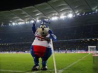 09.12.2017, Football 1. Bundesliga 2017/2018, 15.  match day, Hamburger SV - VfL Wolfsburg, Volksparkstadium Hamburg. HSV-Maskottchen Dino Hermann  *** Local Caption *** © pixathlon<br /> <br /> +++ NED + SUI out !!! +++<br /> Contact: +49-40-22 63 02 60 , info@pixathlon.de