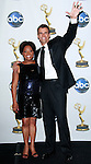 Cameron Mathison and co-host Sherri Shepherd pose backstage at the 35th Annual Daytime Emmy Awards held at the Kodak Theatre in Los Angeles on June 20, 2008.