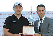 Stephen Gallacher (SCO) presented with an Omega watch after winning the tournament by 3 shots with a score  of -22 at the end of Sunday's Final Round of the 2013 Omega Dubai Desert Classic held at the Emirates Golf Club, Dubai, 3rd February 2013..Photo Eoin Clarke/www.golffile.ie