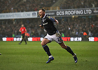 17th March 2019, The Den, London, England; The Emirates FA Cup, quarter final, Millwall versus Brighton and Hove Albion; Aiden O'Brien of Millwall celebrates scoring his sides 2nd goal in the 79th minute to make it 2-0