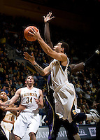 Justin Cobbs of California shoots the ball during the game against Washington at Haas Pavilion in Berkeley, California on January 9th, 2013.   Washington defeated California, 62-47.